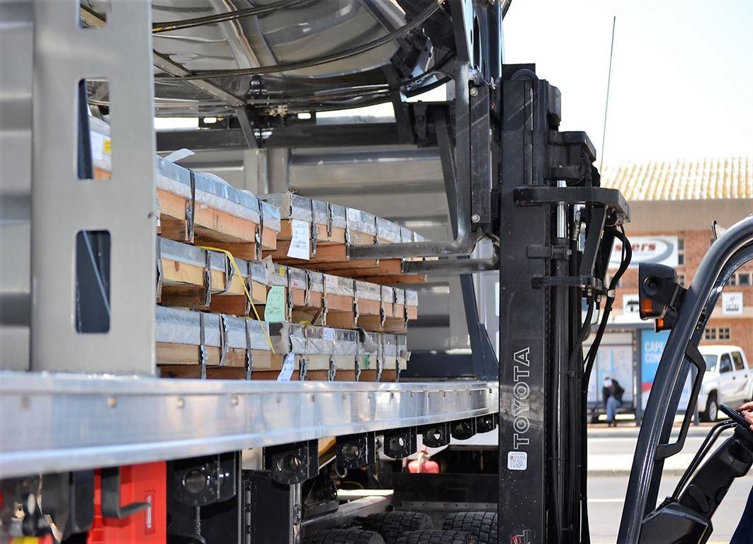 Loading Packs of Steel Plate