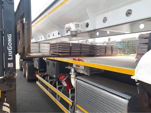Loading Copper Anode Packs on ReturnHauler