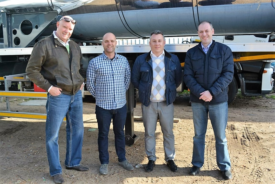 (R to L) : Renato Franco, Export Manager Overseas, Randon; Macile Cornutti, Area Sales Manager, Randon; Albert Liebenberg, MD Afrit Tanker Solutions; Peter Bennetto, MD ReturnHauler
